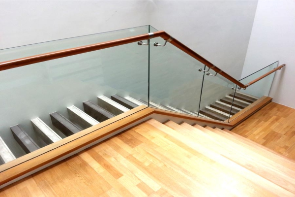 Custom Glass Railings/ Base Shoe Installation