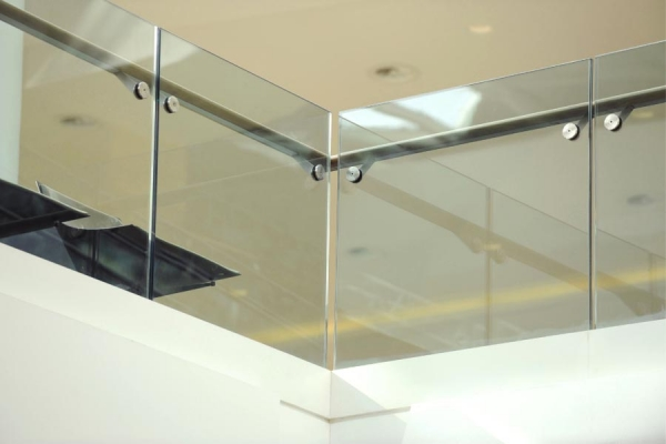 Interior Frameless Glass Railings/ Base Shoe