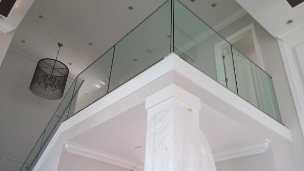 Interior glass staircase / Base Shoe Installation